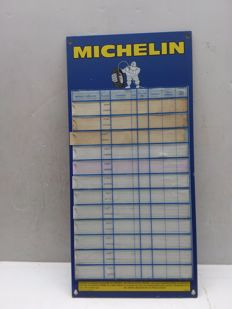 Old French Michelin sign for checking tyres - 1980