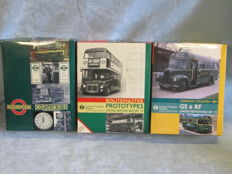 EFE Exclusive First Edition - Scale 1/76 - Lot with 6 models in 3 sets: Routemaster, Regal, Guy, Atlantean and Bristol