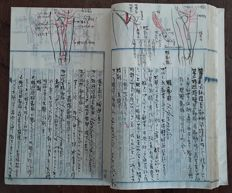 Japan; Original anatomical manuscript - c. 1940