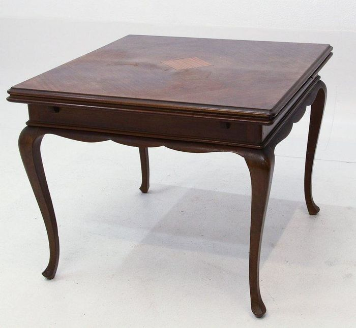 """Queen Anne Dining Room Table: Dining Room Table """"Queen Anne"""" Style, Circa XX Century"""