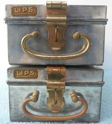 Lips Vago - 2x Deposit Boxes / Decorative Dutch Bank Safes
