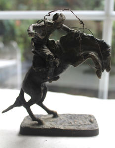 "Franklin Mint 1988 - Fredric Remington's ""Bronco Buster"" Statue - Bronze"