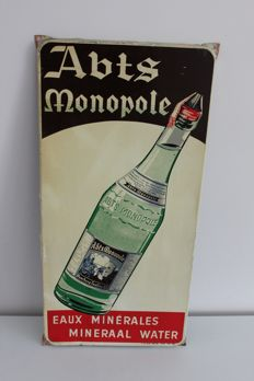 Original Abts Monopole metal advertising board - 1962