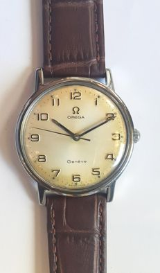 Vintage classic wrist watch Omega Geneve - Switzerland, 1970 year