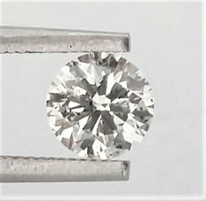 0.71 carat Diamond , F color , SI1 clarity , UNTREATED , 3 x EX , None , AIG certified + Laser Inscription on Girdle