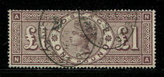 Great Britain 1884 Queen Victoria – £1 brown-lilac – Stanley Gibbons 185