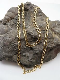 Long 18 kt gold chain - 67 cm