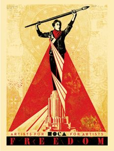 Shepard Fairey (OBEY) - Artists for Freedom