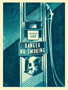 Shepard Fairey (OBEY) - Danger No Smoking