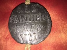 Papal bulla of Pope Alexander VII - 17th century