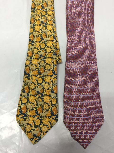 Hermès Paris - Lot of 2 ties