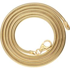 14 kt - Yellow gold, snake link necklace - Length: 45.2 cm