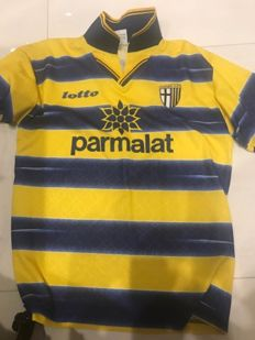 Extraordinary lot: Original collectable shirt AC Parma 1998/1999 Soccer A series, Season winner of Coppa Italia and Uefa Cup