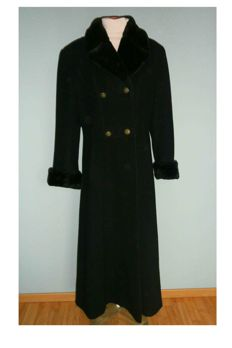 Damo Donna - Super long black cashmere women's fashion coat