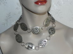 XXL necklace or belt 925 sterling silver - 195 g