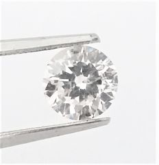 Round Brilliant Cut  - 1.03 carat - D color - SI1 clarity- Comes With AIG Certificate + Laser Inscription On Girdle