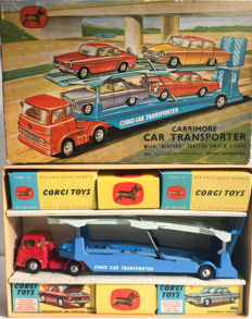 Corgi Major Toys - Scale 1/43 - Gift set 28 – Carrimore Car Transporter with Bedford Tractor Unit and 4 Cars