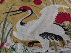 'Petit point' embroidery, France, circa 1940-1950, 75 x 58 cm