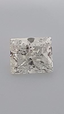 1.01 ct - Pricess cut - White - D / SI1