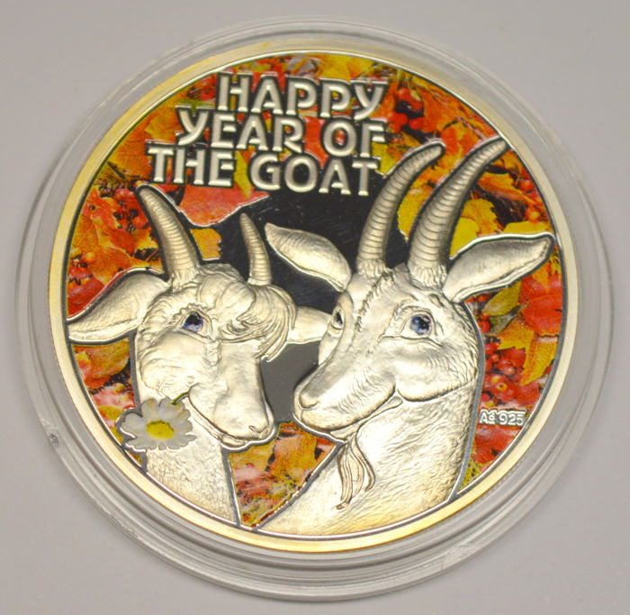 Niue - 1 Dollar 2015 'Happy Year of The Goat' - silver