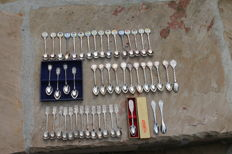 Dutch Royal House Collection Spoons - lot of 47 pieces