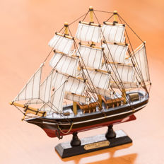 A wooden model of the Cutty Sark. (1869)
