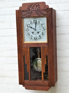 Japy Freres et Cie Beaucourt - Art Deco oak regulator