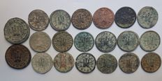 Spain - Philip III (1598-1621) - Lot of 20 coins of 2 and 4 Maravedis - Segovia mint