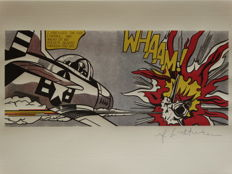 Roy Lichtenstein Lithograph Print - Whaam - Printed Signature On Plate