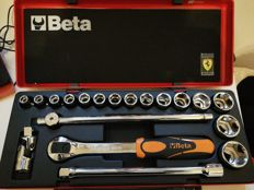 Tool box Scuderia Ferrari, official product, limited edition, discontinued - with 15 socket wrenches 42 x 17 x 6 cm