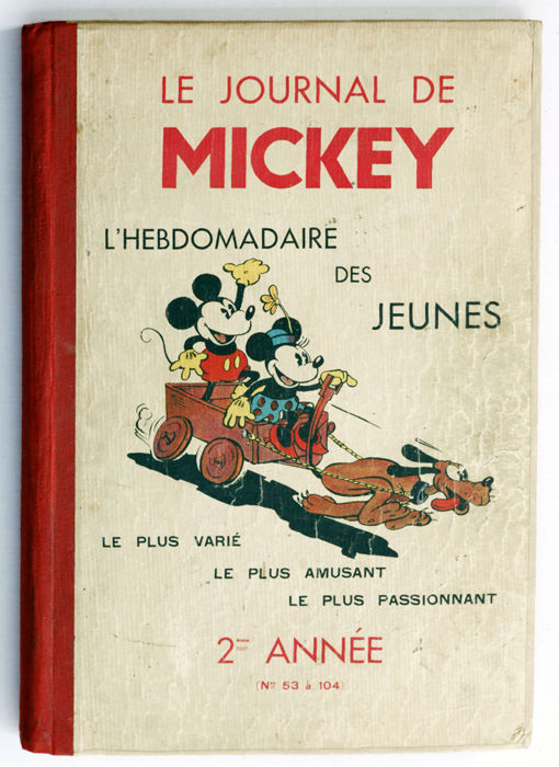 """Le Journal de Mickey"" - Second year (no. 53 to no. 104) - hc - 1st Edition (1935)"