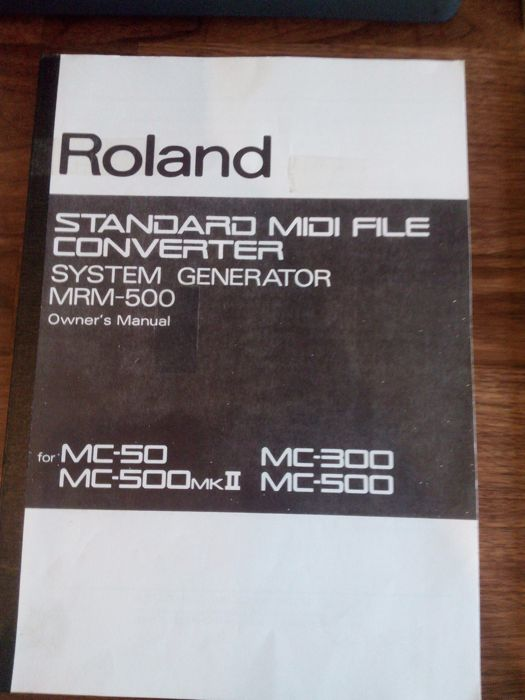 Roland MC 50 Micro Composer + user manual + power adapter