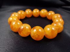 Baltic amber bracelet, 25 gram, diameter 14mm