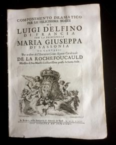 Dramatic composition for the happy wedding of Luigi Delfino of France with the Princess Maria Giuseppa of Saxony - 1747