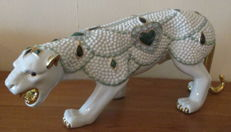 Beautiful ceramic design sculpture of a panther - 2nd half 20th century 1970s - Italy