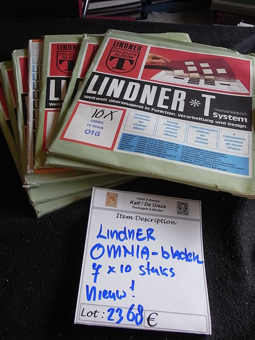 Accessories - Lindner OMNIA sheets, 7 sets of 10.
