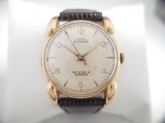 Aurore - men's watch - vintage 1950 - 18 k solid gold - special dial and lugs