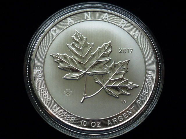 Kanada - 50 Dollar  2017 Maple Leaf  Magnificent Sonderversion - 10 oz / 311 Gramm - 999,9 Silber