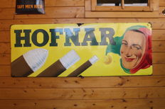 Original Enamel advertising sign Hofnar Sigaren