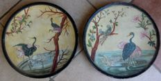 Johann Maresch (1821-1914)  - Pair of signed plates in colour terracotta