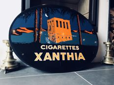 Enamelled plate Cigarette Xanthia - numbered: 22/35