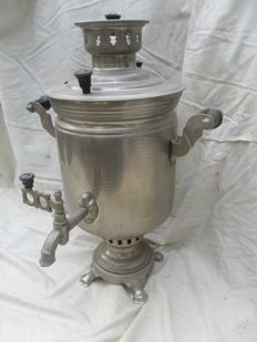 Samovar - made in Russia - stainless steel.