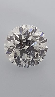 1.09 ct - Round Brilliant - White - D / VS2