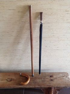 Walking stick with hidden umbrella - 20th century