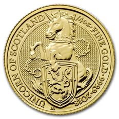 Great Britain - 25 pounds - 1/4 oz 999 gold coin - The Queen's Beasts - the unicorn 2018