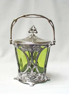 Art Nouveau cookie jar