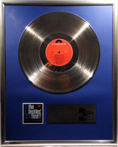 "The Beatles . The Beatles first - 12"" Polydor Record platinum plated record by WWA Awards"