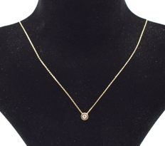 14 carat yellow gold necklace  with Pendant  42 cm
