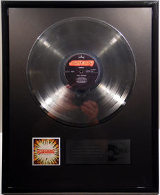 "The Scorpions - Face the Heat  - 12"" Mercury Record platinum plated record by WWA Awards"