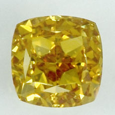 0.51 ct Natural Brown Yellow Diamond VS2 'untreated diamond, very low reserve price'.